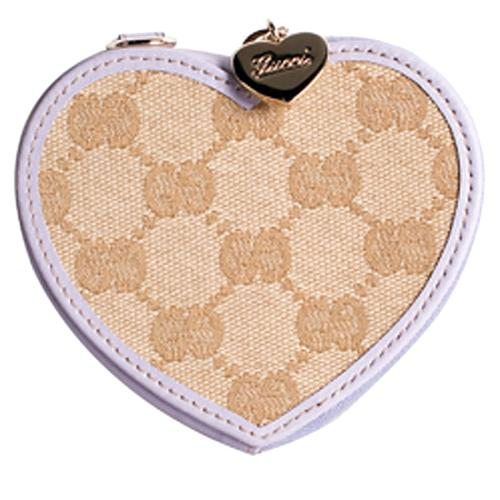 Gucci GG Fabric Heart Coin Wallet