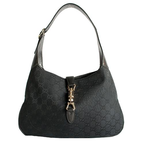 Gucci GG Fabric Jackie Small Hobo Handbag