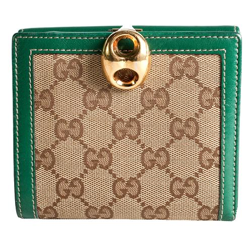 Gucci GG Fabric Marina French Wallet