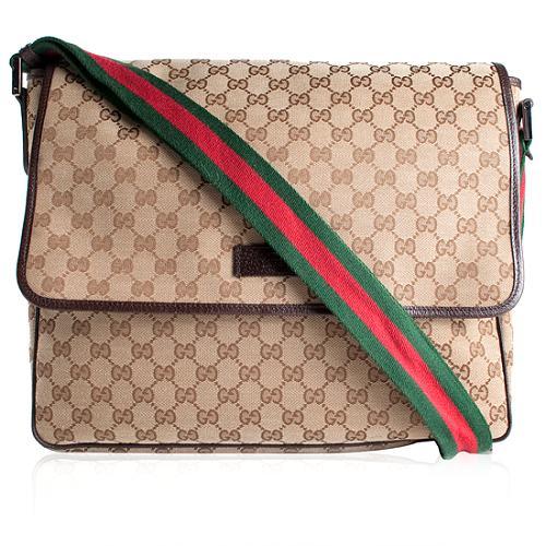 Gucci GG Fabric Messenger Bag