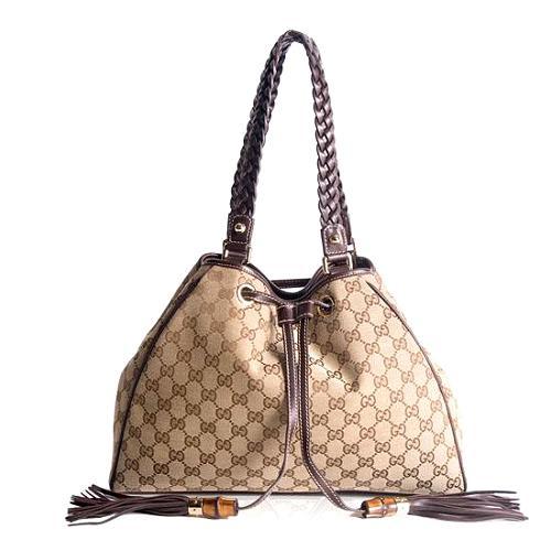 Gucci GG Fabric Peggy Shoulder Handbag