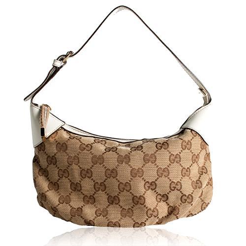 Gucci GG Fabric Pochette Shoulder Handbag