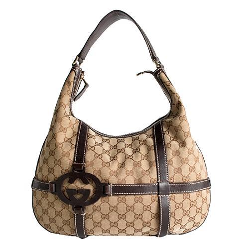 Gucci GG Fabric Royal Hobo Handbag