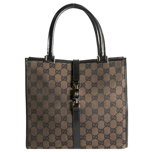 Gucci GG Fabric Satchel Handbag