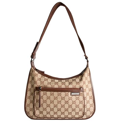 Gucci GG Fabric Shoulder Handbag