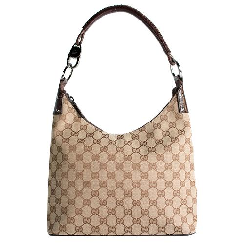 Gucci GG Fabric Small Hobo Handbag