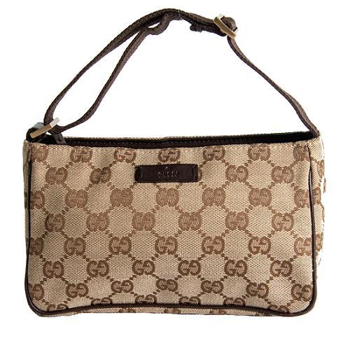 Gucci GG Fabric Small Shoulder Handbag