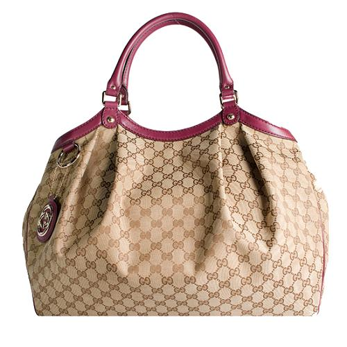 Gucci GG Fabric Sukey Large Tote