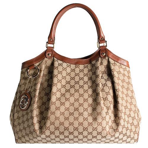 Gucci GG Fabric Sukey Large Tote