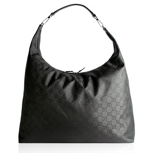 Gucci GG Fabric Travel XLarge Hobo Handbag