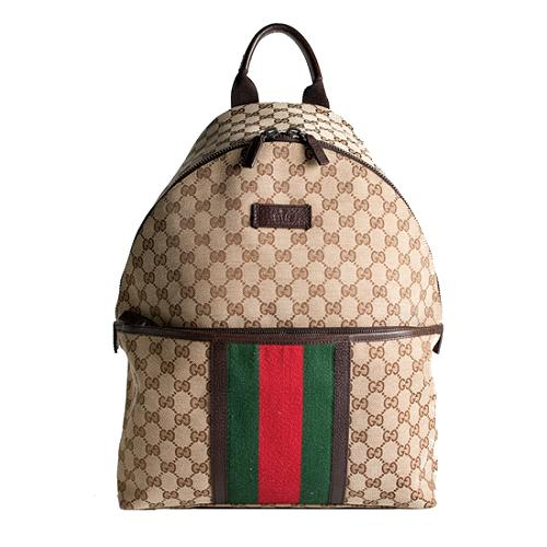 Gucci GG Fabric Web Backpack