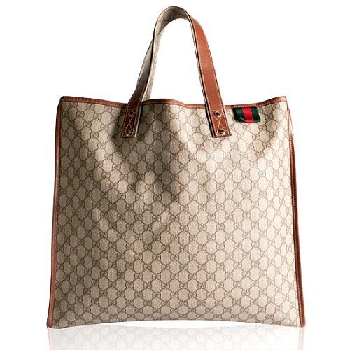 Gucci GG Fabric Web Large Tote
