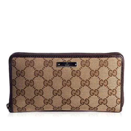 Gucci GG Fabric Zip Around Wallet