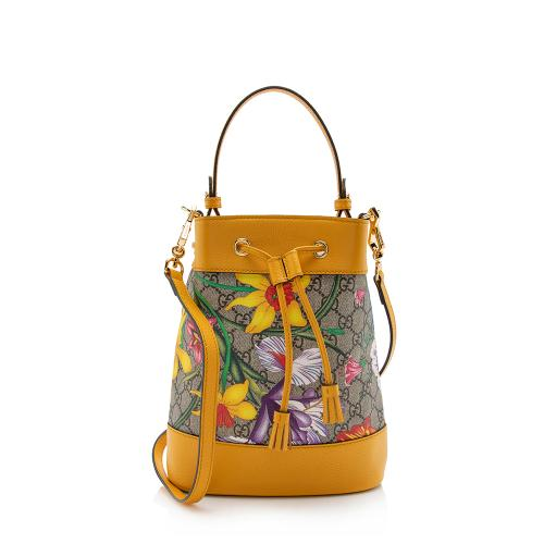 Gucci GG Flora Small Ophidia Bucket Bag