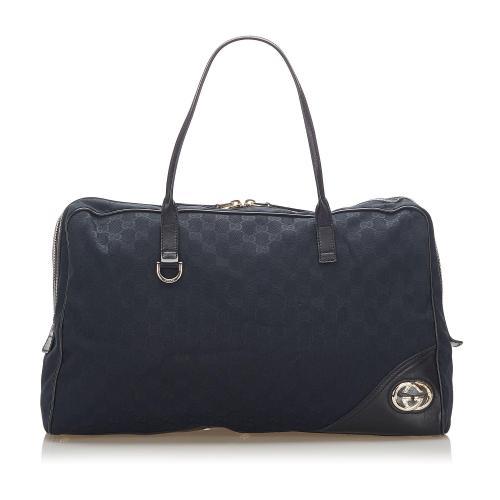 Gucci GG Jacquard New Britt Tote Bag