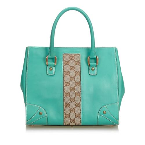 Gucci GG Leather Satchel