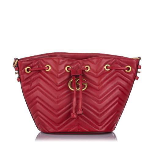Gucci Matelasse GG Marmont Bucket Bag