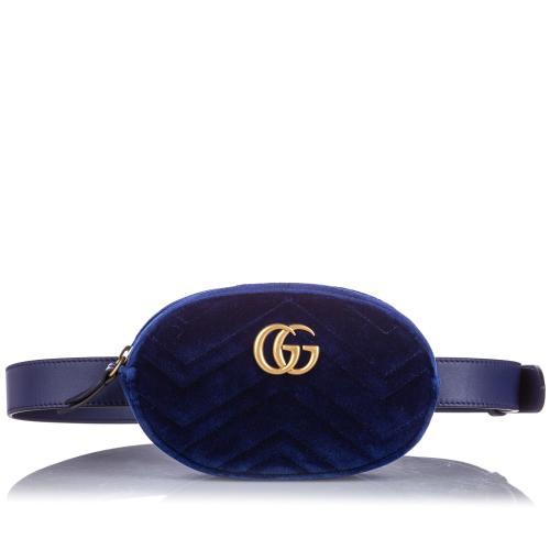 Gucci Velvet GG Marmont Belt Bag