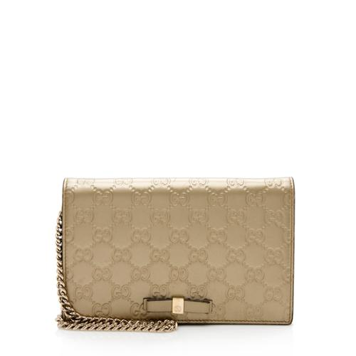 Gucci GG Metallic Leather Signature Mini Bag