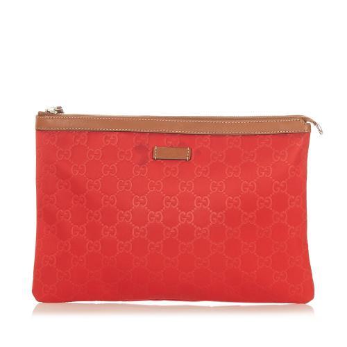 Gucci GG Nylon Clutch Bag