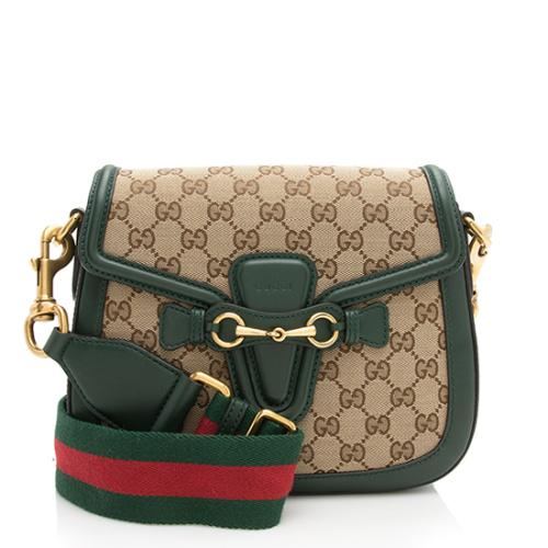 7fd19fa151aec1 Gucci GG Original Lady Web Medium Shoulder Bag