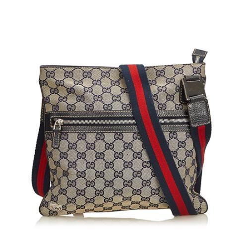 Gucci GG Canvas Web Messenger Bag