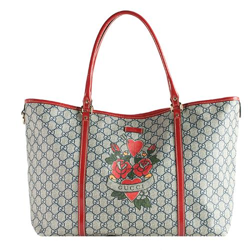 ce3cc468393 Gucci-GG-Plus-Tattoo-Hearts-and-Roses-Tote 48941 front large 1.jpg