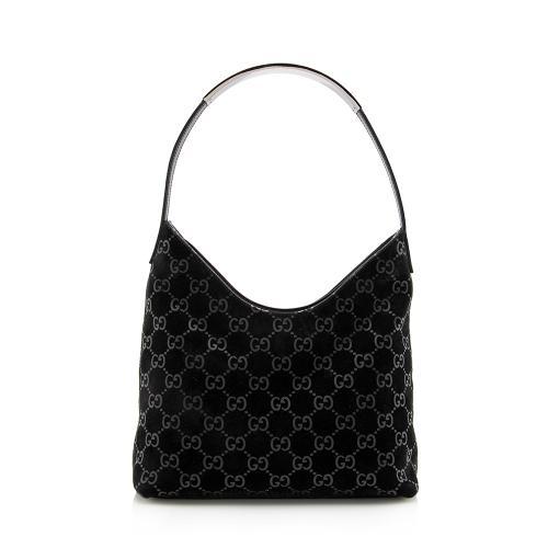 Gucci GG Suede Shoulder Bag