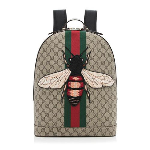 Gucci GG Supreme Animalier Bee Backpack
