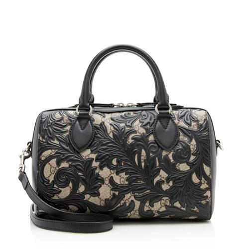 Gucci GG Supreme Arabesque Small Boston Satchel