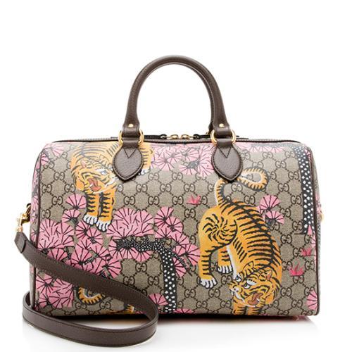 Gucci GG Supreme Bengal Tiger Medium Boston Satchel