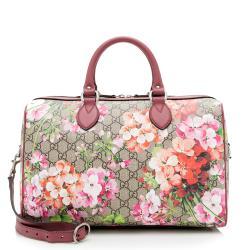 Gucci GG Supreme Blooms Medium Boston Satchel