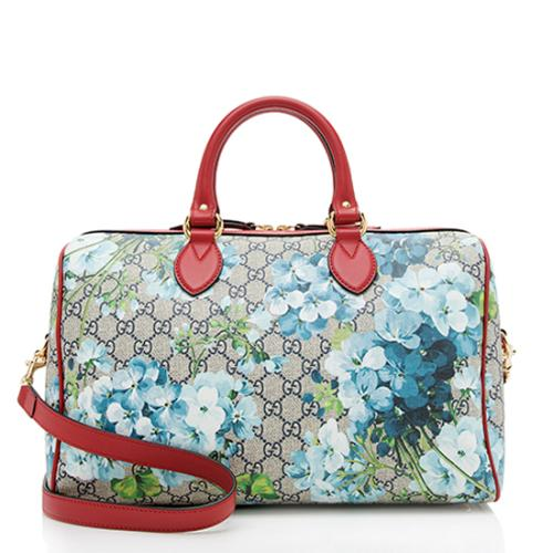 Gucci GG Supreme Blooms Medium Top Handle Bag