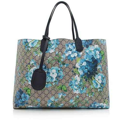 Gucci GG Supreme Blooms Reversible Large Tote