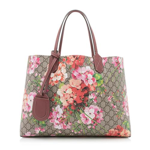 Gucci GG Supreme Blooms Reversible Medium Tote