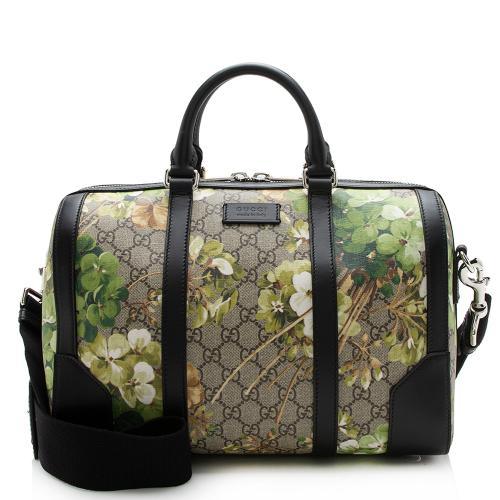 Gucci GG Supreme Blooms Small Duffel Bag