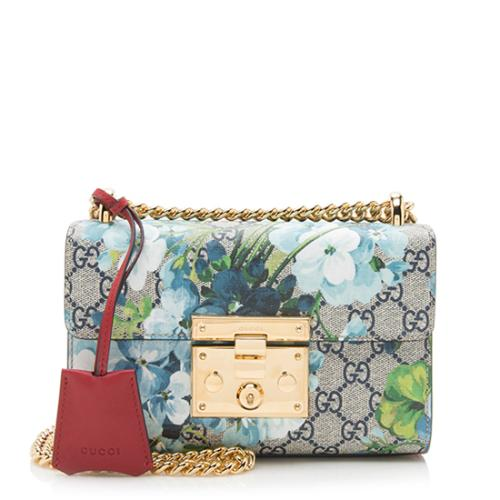 Gucci GG Supreme Blooms Small Padlock Shoulder Bag