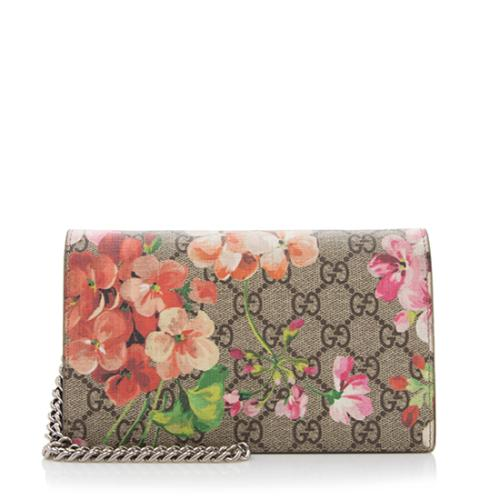 38f76691fb2 Gucci-GG-Supreme-Blooms-Wallet-on-Chain -Bag--FINAL-SALE 94910 front large 0.jpg