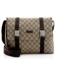 Gucci GG Supreme Buckle Messenger Bag