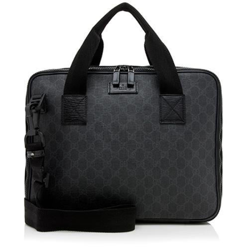 Gucci GG Supreme Convertible Laptop Briefcase