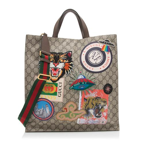 Gucci GG Supreme Courrier Soft Tote
