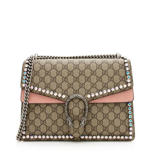 Gucci GG Supreme Crystal Medium Dionysus Shoulder Bag