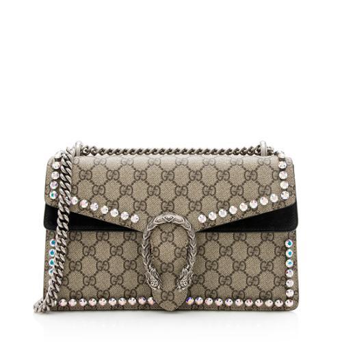 Gucci GG Supreme Crystal Small Dionysus Shoulder Bag