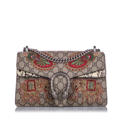 Gucci GG Supreme Elephant Dionysus Shoulder Bag