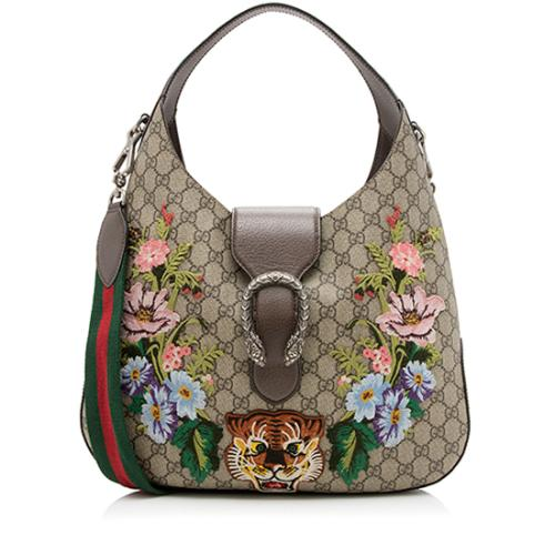 Gucci GG Supreme Embroidered Dionysus Medium Hobo
