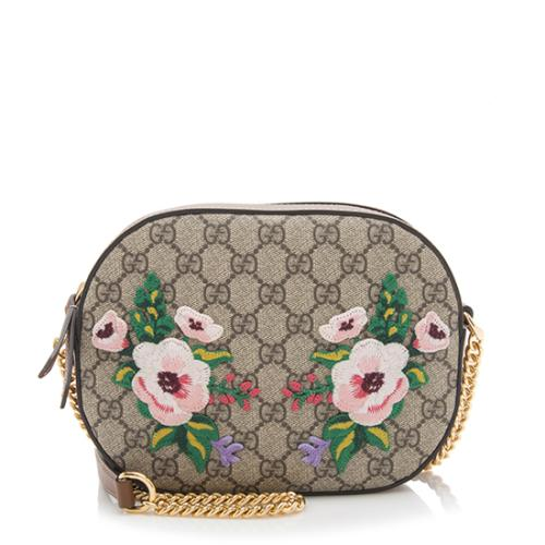 Gucci GG Supreme Embroidered Mini Chain Bag
