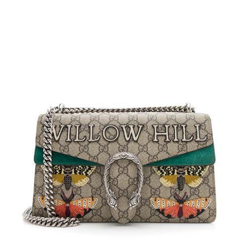 Gucci GG Supreme Embroidered Willow Hill Dionysus Small Shoulder Bag