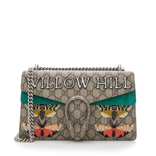829b6a974ae8c3 Gucci GG Supreme Embroidered Willow Hill Dionysus Small Shoulder Bag