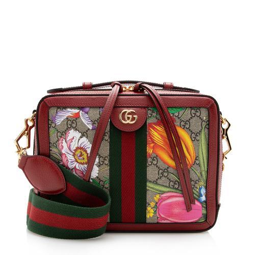 Gucci GG Supreme Flora Ophidia Small Top Handle Shoulder Bag
