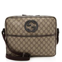 Gucci GG Supreme Interlocking GG Messenger Bag